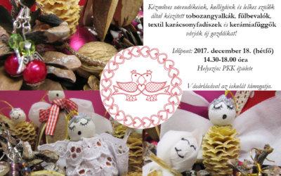 Támogatói karácsonyi kézműves vásár 2017. december 18-án!
