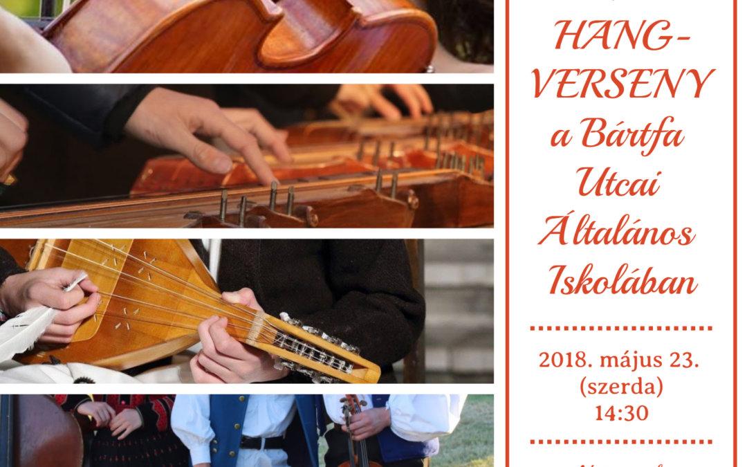 Évzáró hangverseny a Bártfában 2018. május 23. (szerda) 14.30h