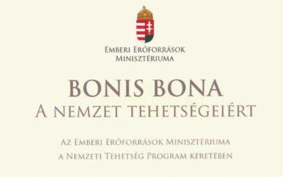 """Havasréti Pál – a Bonis Bona (""""A nemzet tehetségeiért"""")-díj  tulajdonosa"""