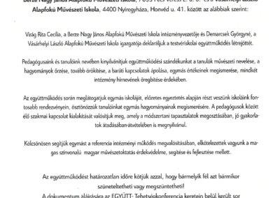 Partnerintézményi megállapodás Berze_Vásárhelyi László AMI